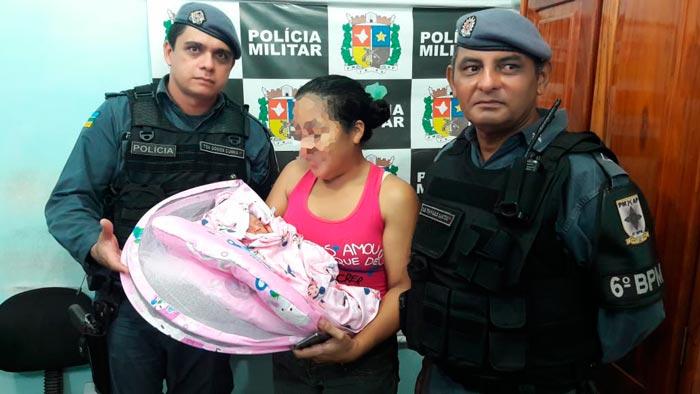 PM do Amapá localiza bebê raptada