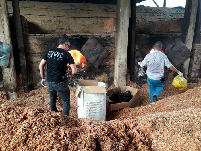 Polícia destrói 300 kg de drogas e promete aumentar repressão