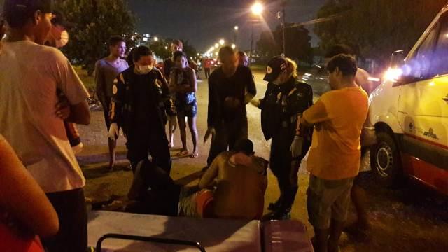 Ladrões são atropelados por motorista embriagado
