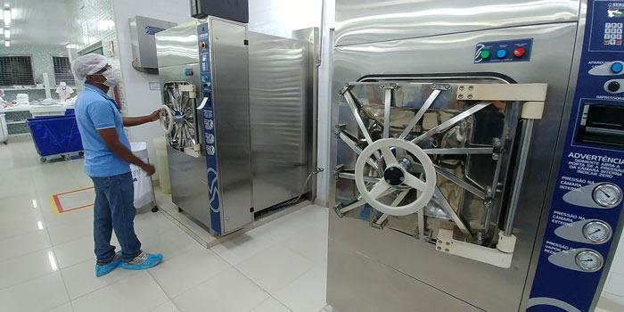Esterilização de roupas em hospitais do Amapá usa tecnologia de ponta