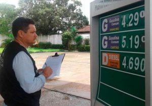 Procon notifica posto que vende gasolina a R$ 5,19 no cartão