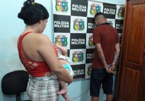 Casal usava bebê para disfarçar venda de drogas, afirma PM