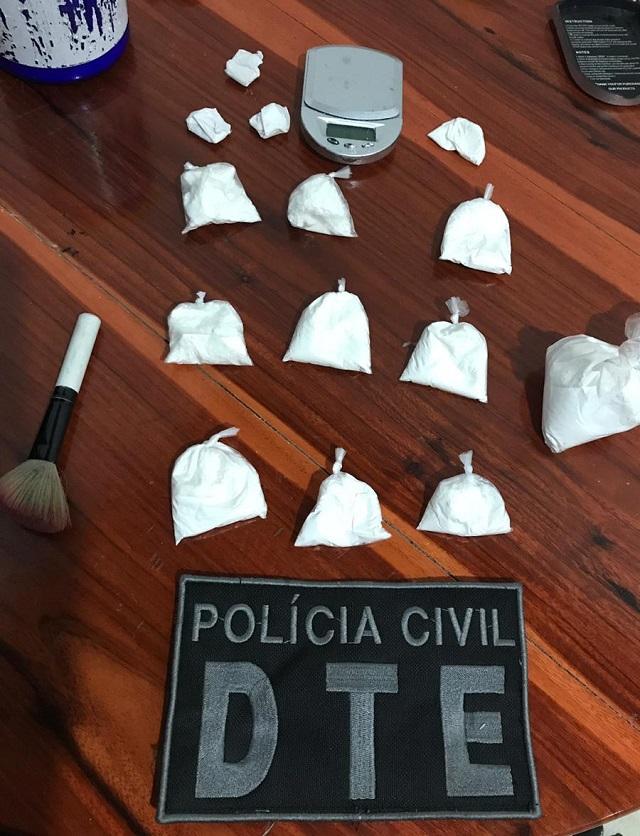 Após 10 horas de campana, agentes flagram distribuidor de cocaína