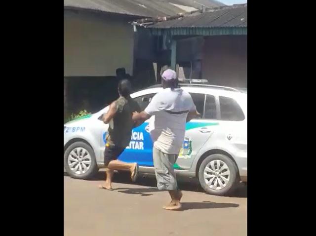 Assaltante é preso após troca de tiros em Macapá; VÍDEO