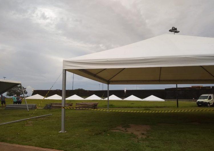Sesi Saúde Total: estrutura começa a ser montada no Amapá