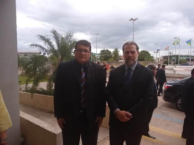 Cumprindo agenda no AP, presidente do STF visita Justiça Federal