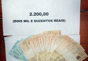 Advogado repassa R$ 2,2 mil a detento, mas dinheiro é apreendido