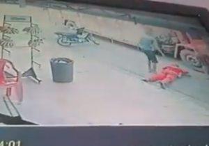 VÍDEO: caminhão de refrigerantes é assaltado durante entrega