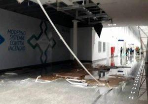 Forro desaba e assusta passageiros no Aeroporto Internacional de Macapá