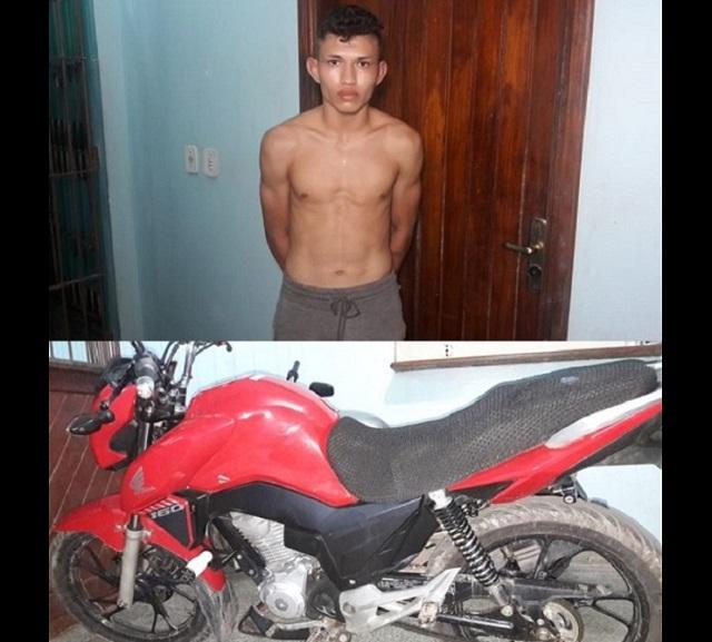 Jovem compra moto roubada por R$ 500 e acaba preso