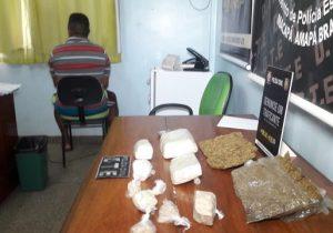 Polícia Civil flagra homem com 3kg de drogas em Macapá