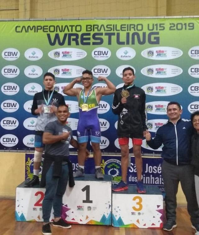 Amapaenses se destacam no campeonato brasileiro de Luta Olímpica
