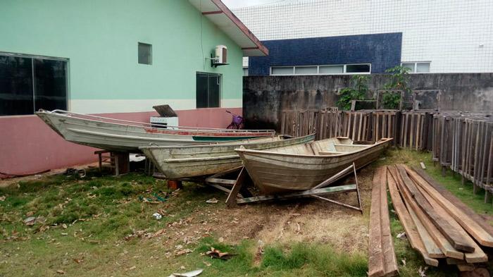Em Porto Grande, fiscais apreendem barcos de pescadores ilegais e de caçadores
