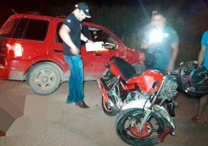 Em colisão frontal, motociclista morre na Duca Serra