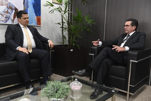 Em reunião com ministro do TCU, Davi pede agilidade em processo da transposição