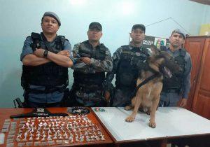 Cão farejador encontra dezenas de papelotes de drogas em máquina de lavar