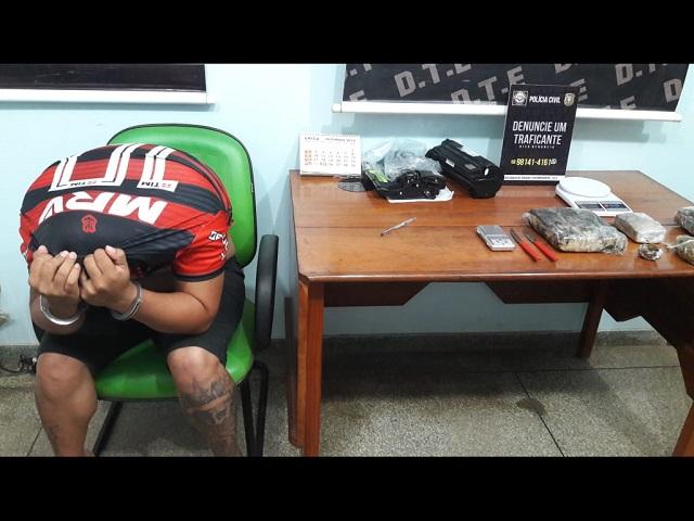 Polícia Civil monitora encontro de traficantes e apreende 2kg de skank