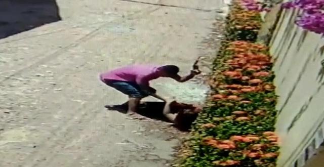 VÍDEO: Assaltante espanca e rouba mulher em Macapá