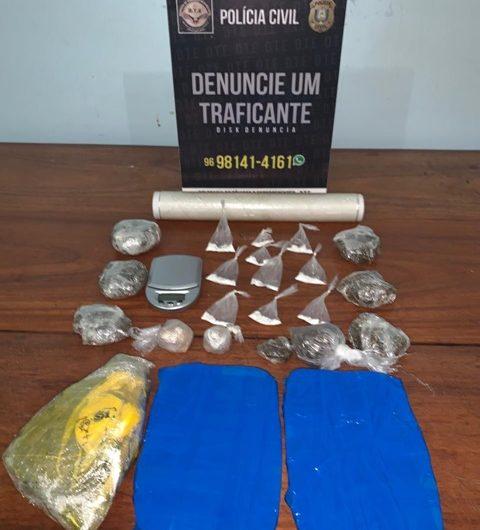 Com 1,5 kg de drogas em casa, homem no Araxá confessa ser traficante