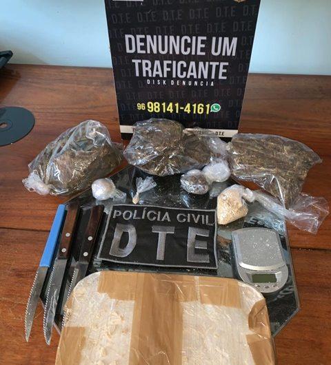 Acusado de tráfico guardava quase 2kg de crack e skank em casa