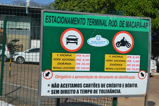 Preço de estacionamento é criticado por usuários da Rodoviária de Macapá