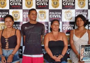 Mãe e filhas são presas por tráfico de drogas