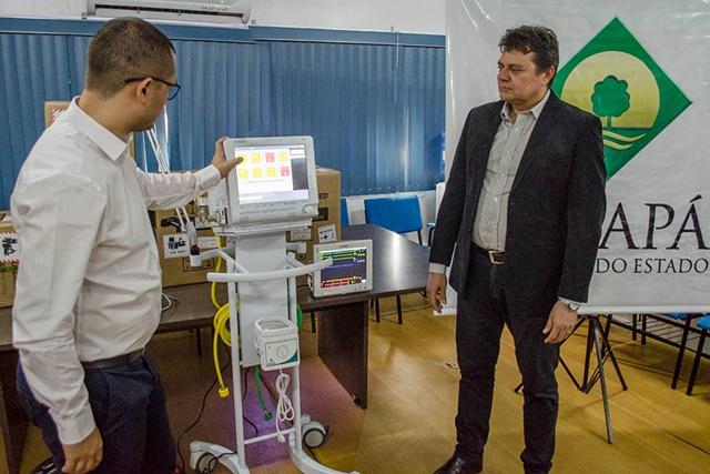 Com novos respiradores, Estado ampliará em 150% atendimentos em UTI's