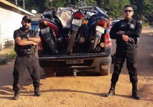Civil e Rodoviária interceptam motos roubadas em Macapá na BR-156