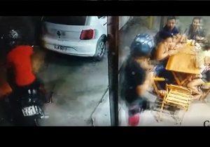 Bandidos assaltam família em pizzaria de Macapá. VÍDEO