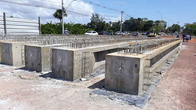 Colocação de vigas na ponte da Lagoa dos Índios deve interromper trânsito