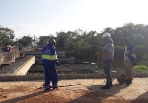 Ponte: 1ª madrugada de obras na Lagoa dos Índios tem motoristas barrados