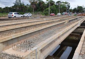 Colocação de vigas encerra primeira etapa de obra na Lagoa dos Índios