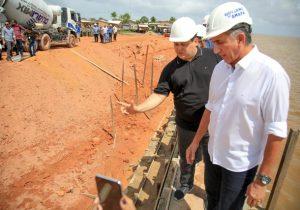 Com 70% do muro de arrimo pronto, obra no Araxá ganha R$ 19 mi para urbanização