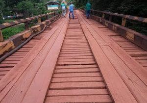 Ponte na BR-210 é interditada parcialmente para recuperação