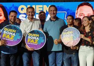 Em Santana, Lucas e Marcivânia anunciam apoio a Josenildo