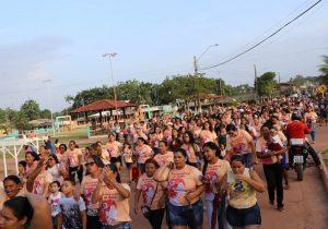 Centenas vão às ruas no interior do Amapá por combate à violência contra mulher