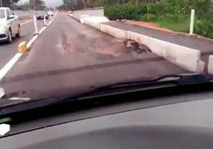 Duca Serra: Setrap reforçará asfalto em trechos que afundaram próximo da Lagoa