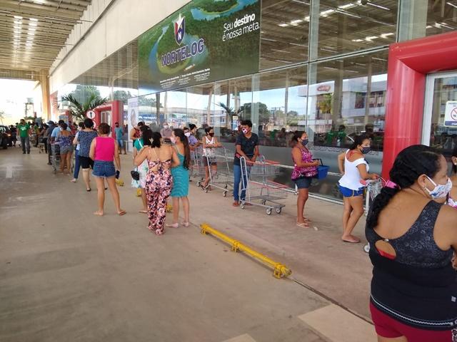 Em Macapá, boato sobre fechamento promove corrida a supermercados