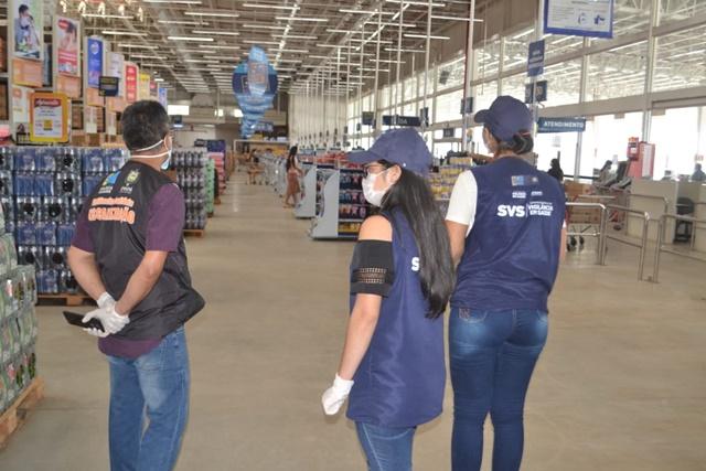 SVS inicia fiscalização para evitar aglomerações em supermercados