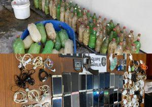 Revólver, celulares, drogas e bebidas são encontrados no Iapen após motim