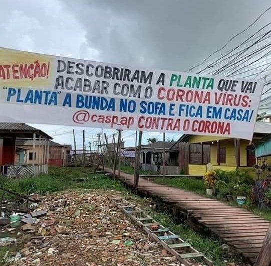 """""""Planta a bunda no sofá e fica em casa"""", pedem moradores na periferia de Macapá"""