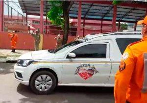 Cortejo com oficial morto pela covid passa no quartel para despedida da tropa; SNTV