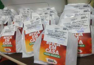 Em Pedra Branca, começa a entrega de 5 mil kits a pacientes de covid