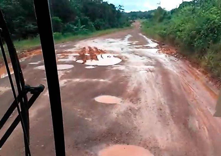 Sem obras de pavimentação, viagem para Oiapoque dura 13 horas