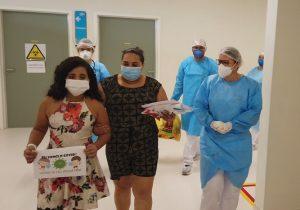 1ª paciente do HU, menina que teve AVC recebe alta; ASSISTA