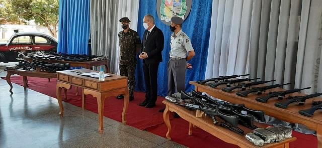 PM ganha fuzis para combater crime organizado