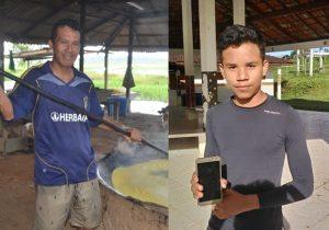 Farinha e internet: união de gerações Palikur