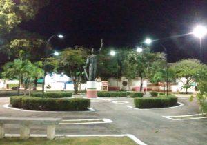 Energia é restabelecida na Praça Veiga Cabral após cabos furtados