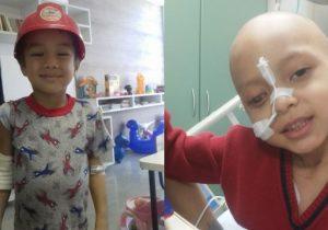 Tio e sobrinho: crianças lutam para vencer o câncer