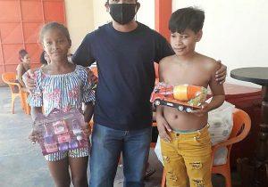 Voluntários fazem a alegria de crianças no Zerão